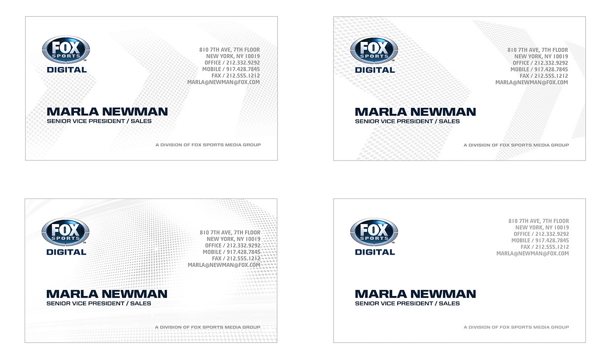 Fox Sports Digital Business Cards - Visual Foundry