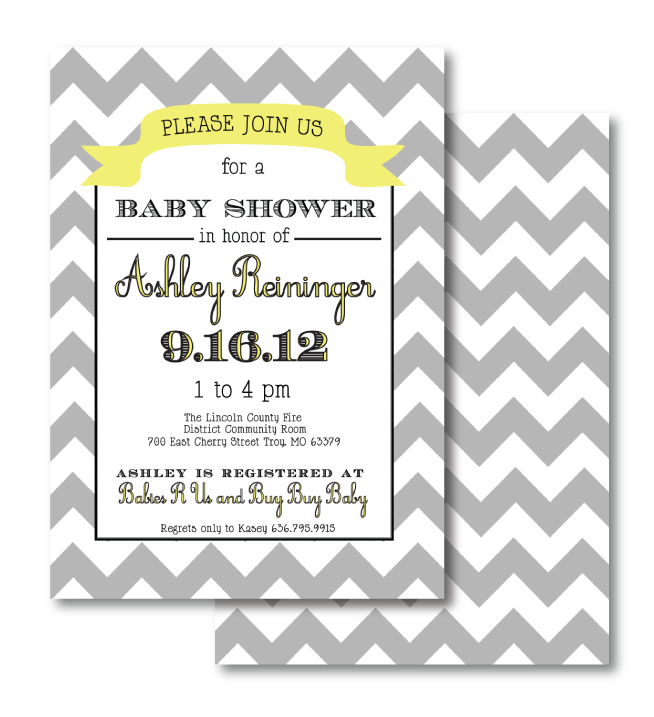 this was a baby shower invitation designed for a family friend